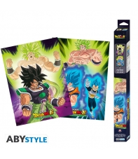 Pack 2 Posters Dragon Ball Super Broly, 52 x 38 cm