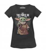 Camiseta Star Wars Baby Yoda May the Force with You, Mujer