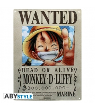 Metal Plate One Piece Luffy Wanted