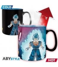 Taza Dragon Ball Super Vegito y Trunks, Sensitiva al Calor 460 ml
