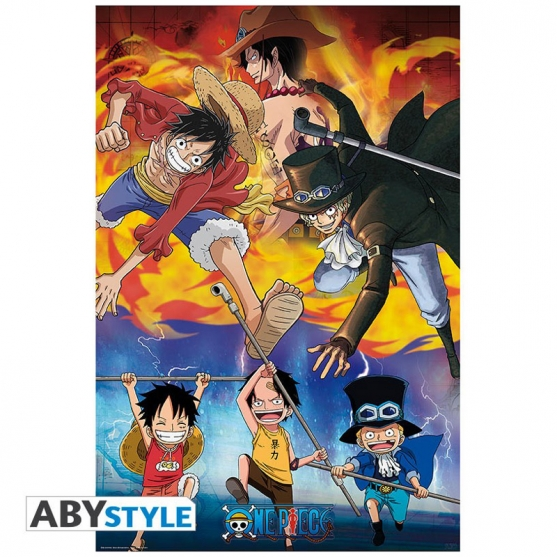 Poster One Piece Ace, Sabo y Luffy, 91,5 x 61 cm