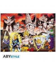 Poster Dragon Ball Z Celula y Grupo Arc, 91,5 x 61 cm