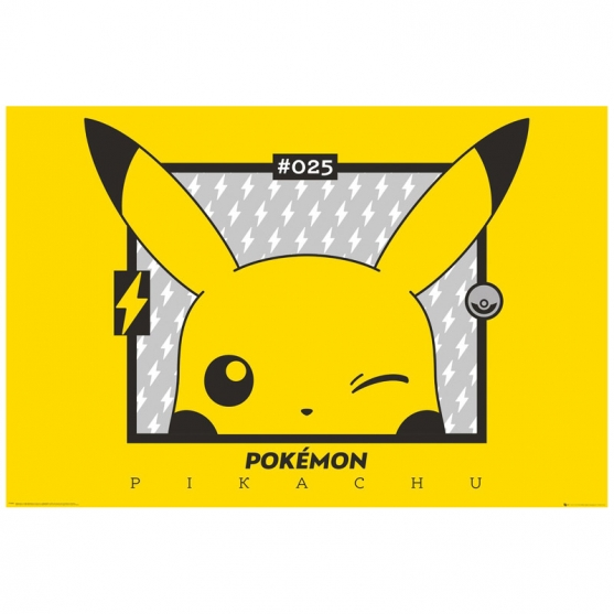 Poster Pokémon Pikachu Guiño, 91,5 x 61 cm