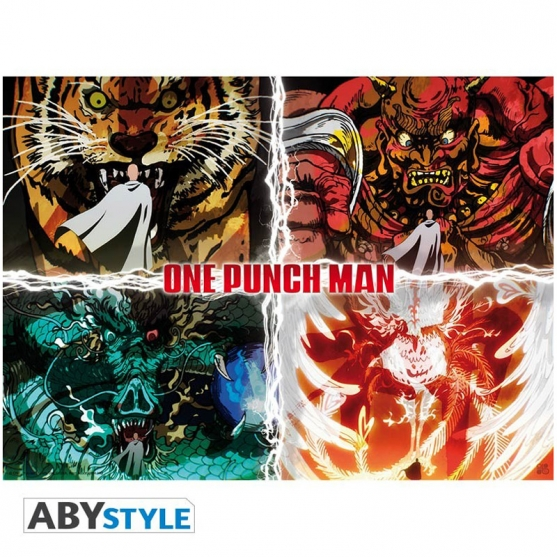 Poster One Punch Man Niveles de Desastre, 58 x 34 cm