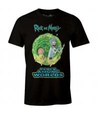 T-shirt Rick and Morty Peace Among Worlds, Man