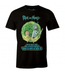 Camiseta Rick and Morty Peace Among Worlds, Hombre