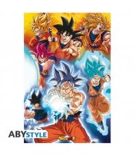 Poster Dragon Ball Super Transformaciones Goku 91,5 x 61 cm