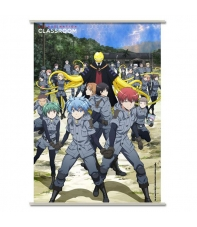 Poster Tela Enrollable Assassination Classroom, Koro y Clase 3-E, 90 x 60 cm