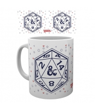 Taza Dungeons & Dragons D20, 320 ml