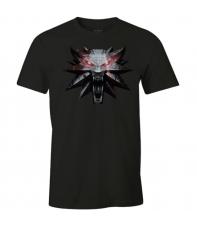 Camiseta The Witcher 3 Medallón Lobo, Hombre