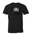 T-shirt The Witcher 3 Medallion Wolf, Man