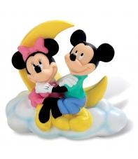 Hucha Disney Mickey y Minnie en la Luna, 18 cm