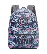 Mochila Bolso Marvel Capitán América Flores