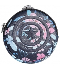 Monedero Marvel Capitán América Flores